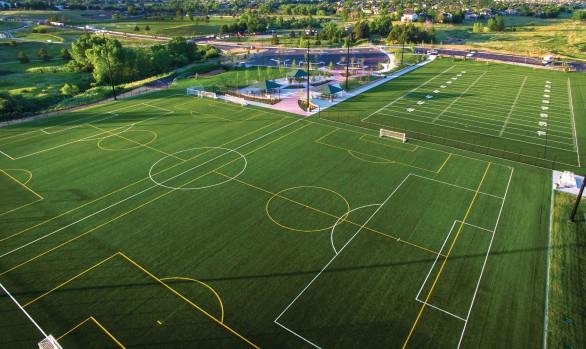 grass soccer field. The West Fields At Highland Heritage Park Grass Soccer Field